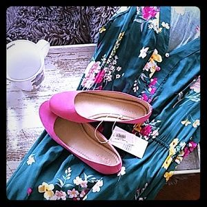 Size 7 Oldnavy Pink Flats